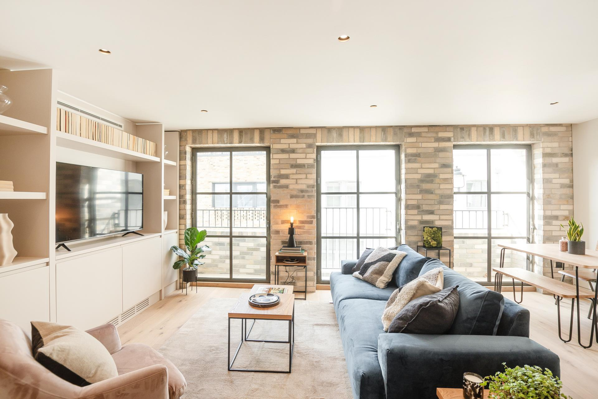 Living area at King's Mews Apartments, Holborn, London - Citybase Apartments