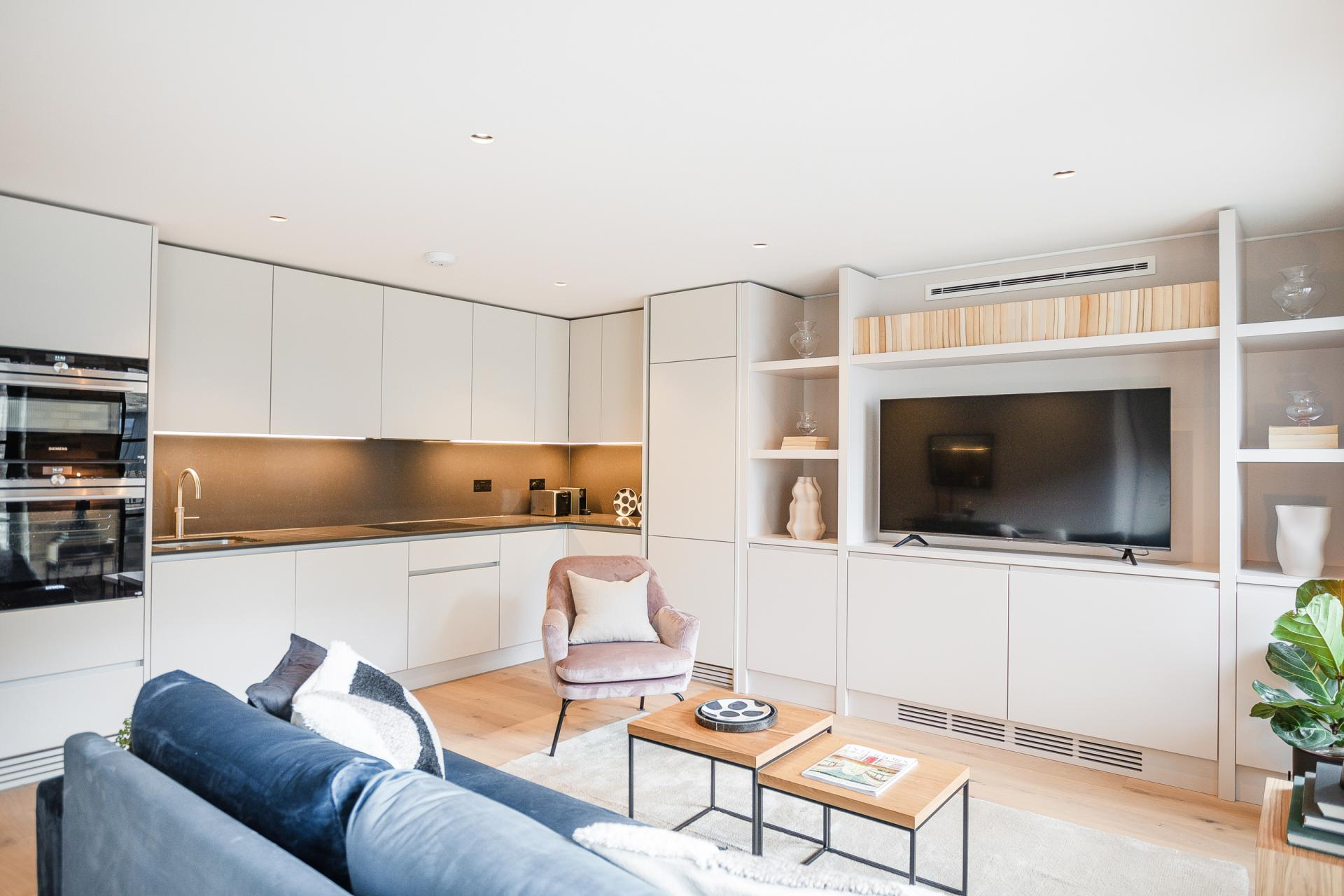 Open plan living at King's Mews Apartments, Holborn, London - Citybase Apartments