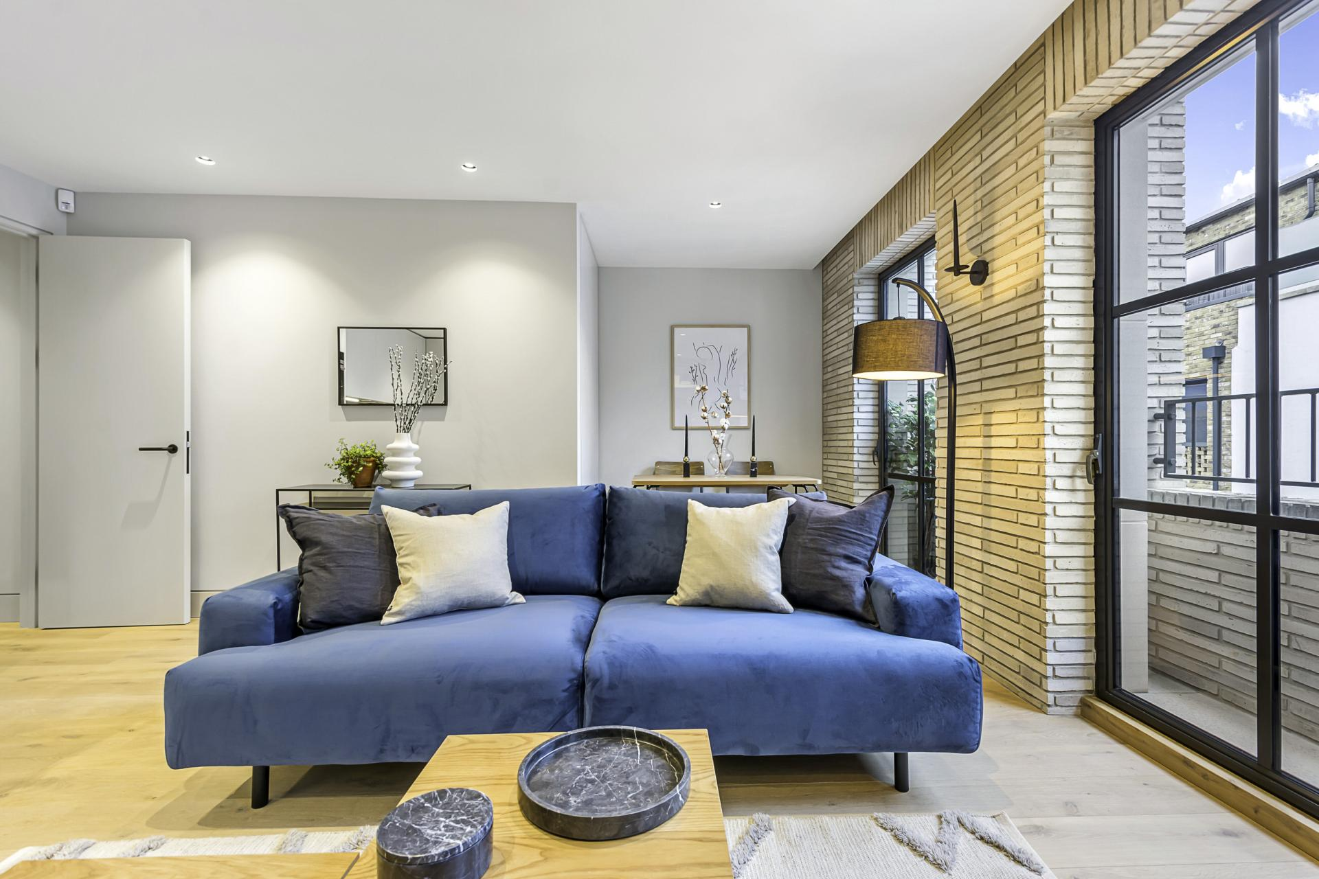 Seating area at King's Mews Apartments, Holborn, London - Citybase Apartments