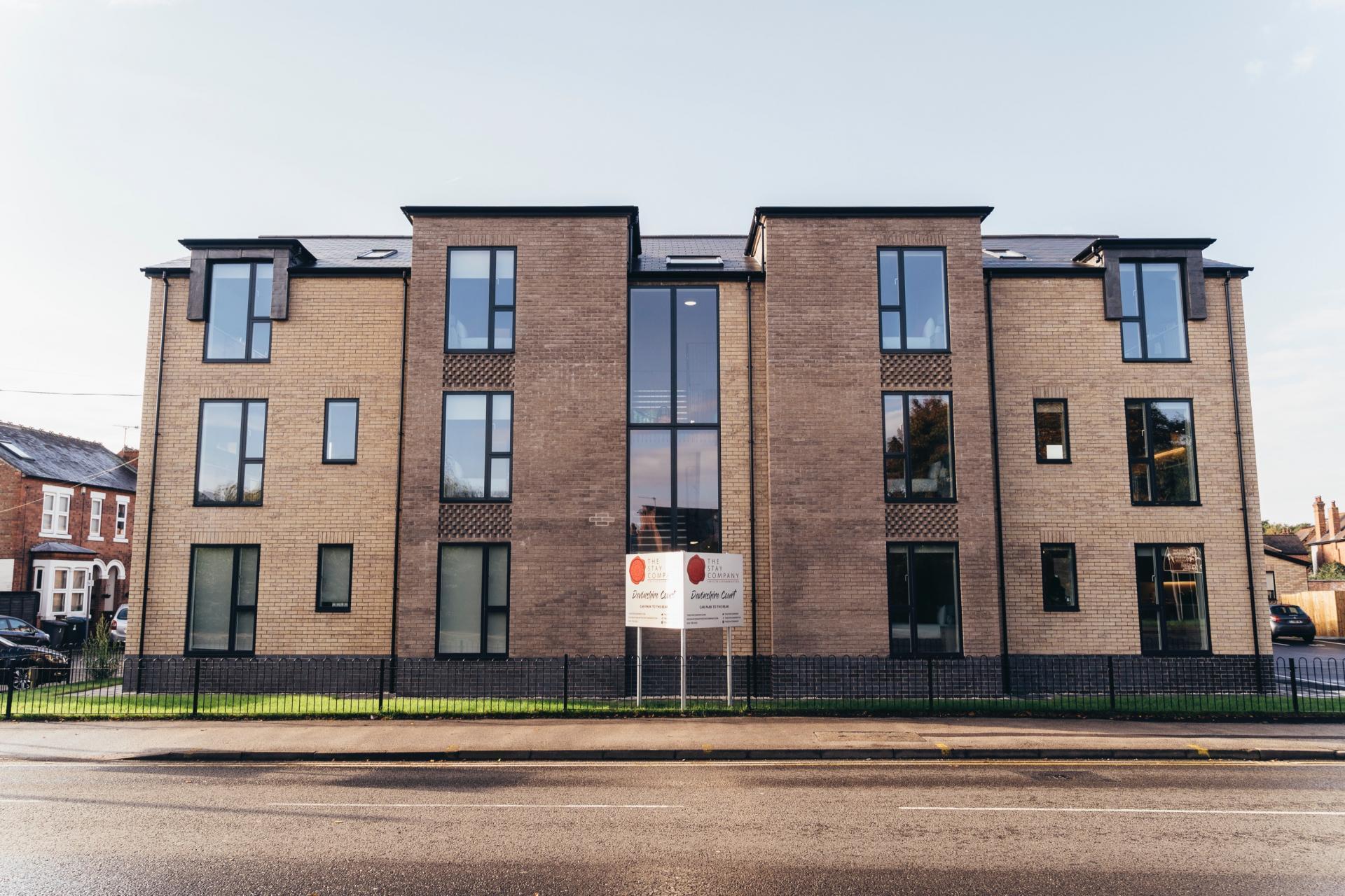 Exterior of Devonshire Court Apartments, West Bridgford, Nottingham - Citybase Apartments