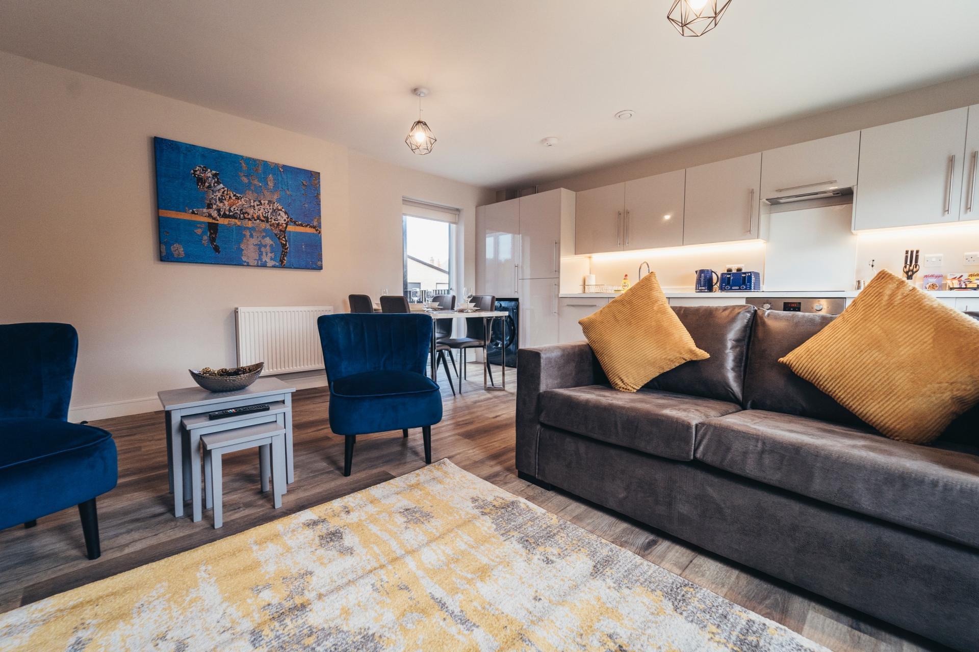 Living area at Devonshire Court Apartments, West Bridgford, Nottingham - Citybase Apartments