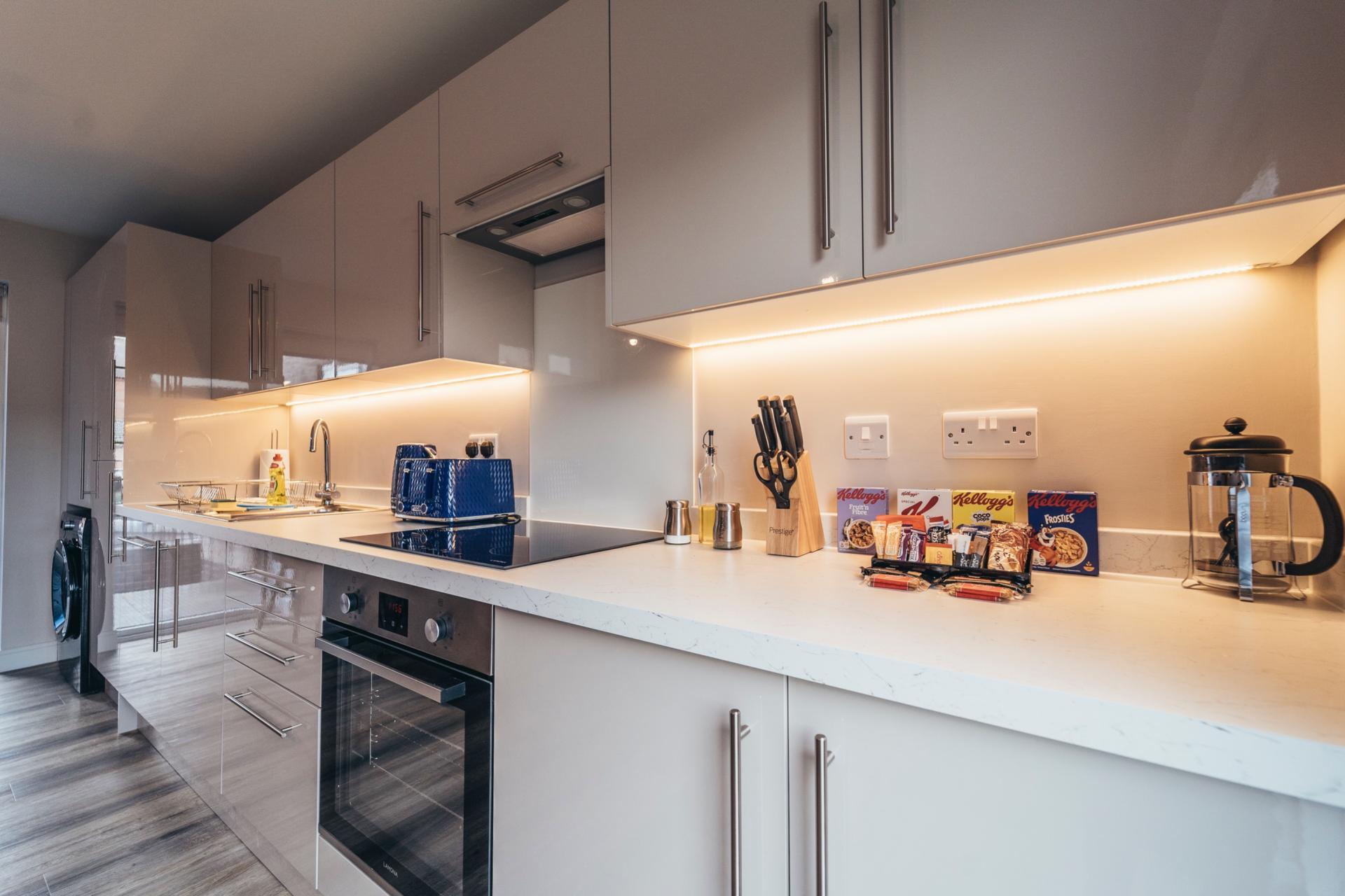Kitchen at Devonshire Court Apartments, West Bridgford, Nottingham - Citybase Apartments