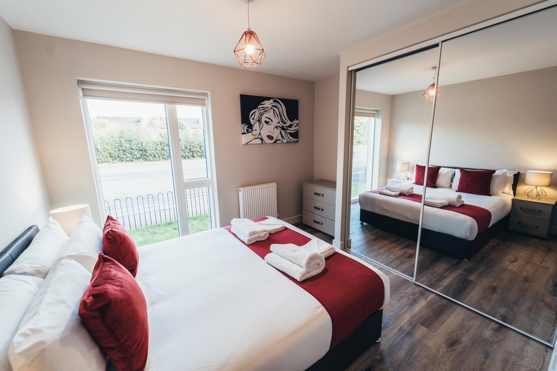 Bedroom at Devonshire Court Apartments, West Bridgford, Nottingham - Citybase Apartments