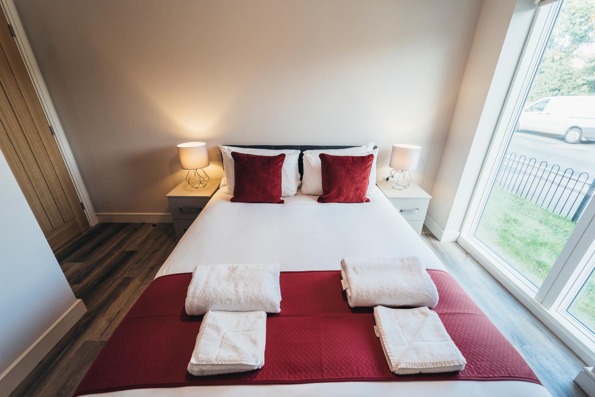Bed at Devonshire Court Apartments, West Bridgford, Nottingham - Citybase Apartments