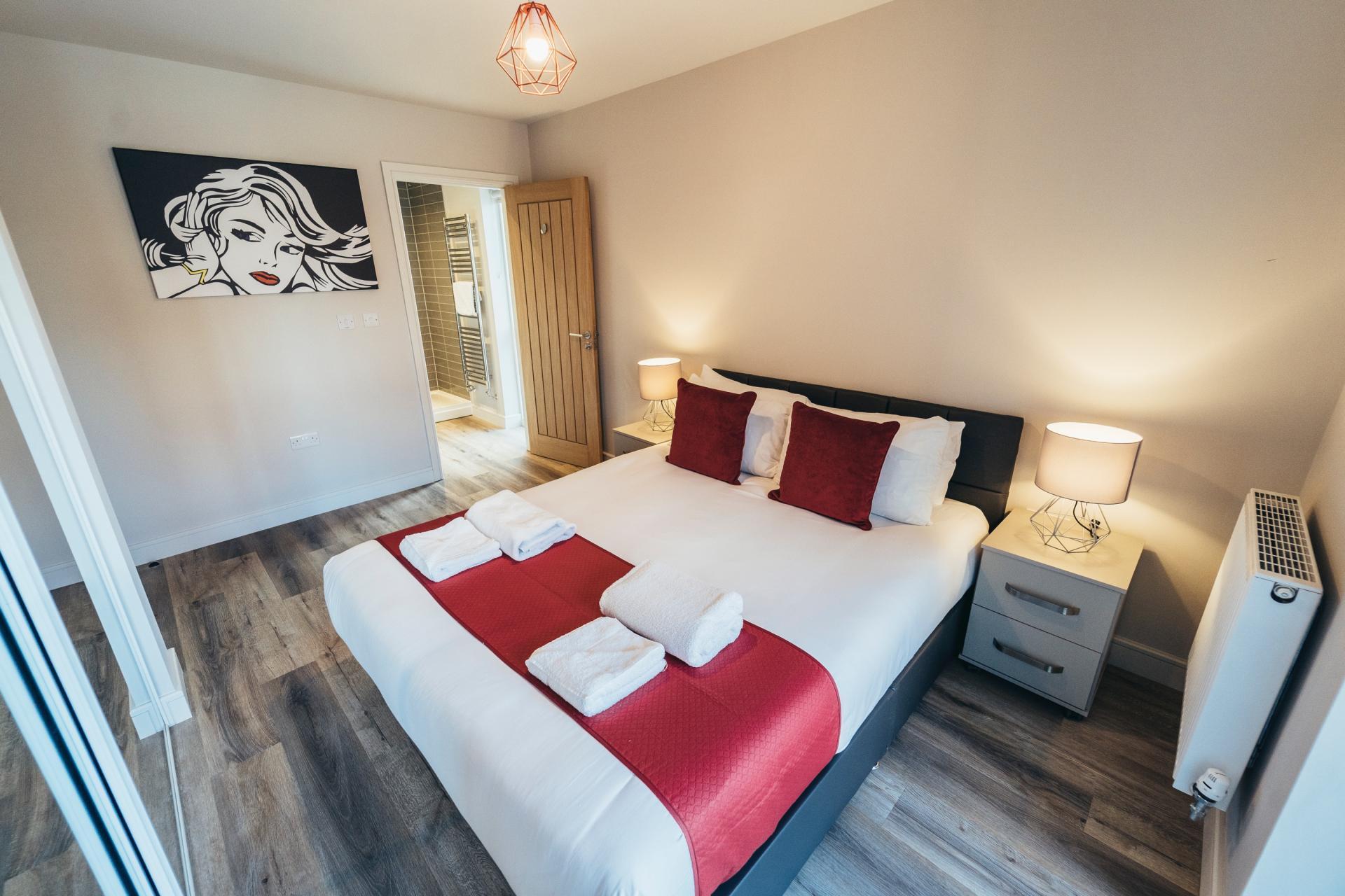 Spacious bedroom at Devonshire Court Apartments, West Bridgford, Nottingham - Citybase Apartments