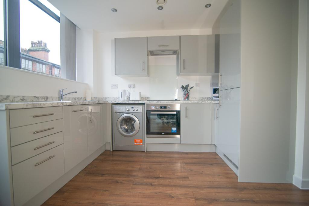 Kitchen space at Dream Apartments Manchester, Salford, Manchester - Citybase Apartments