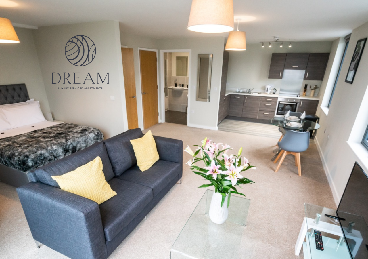Open plan living at  Dream Apartments Manchester - Citybase Apartments