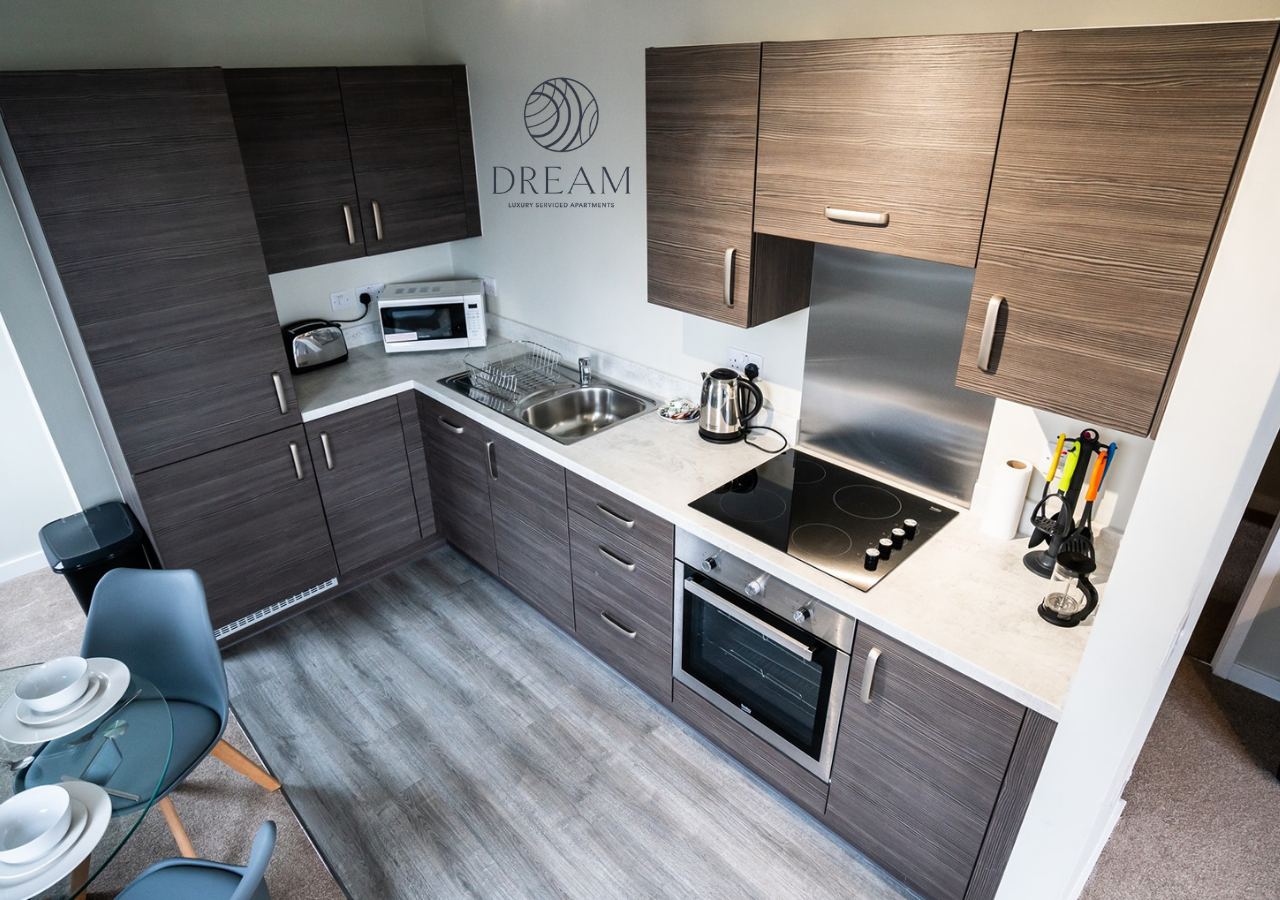 Kitchen at Dream Apartments Manchester - Citybase Apartments