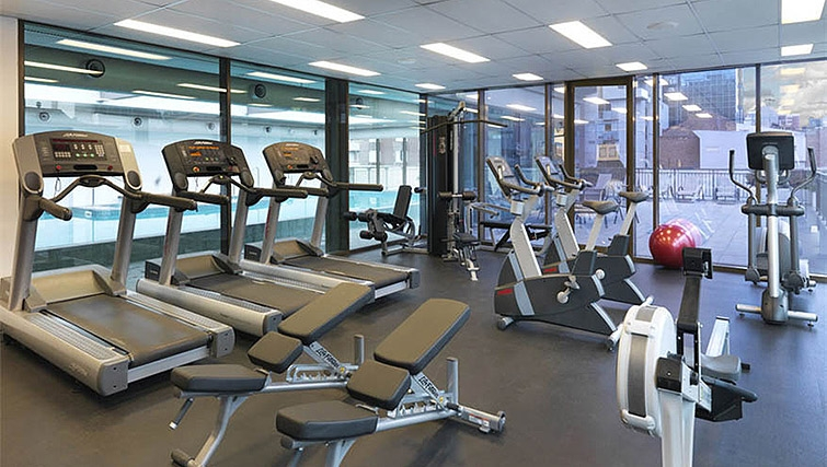 Fitness centre at Mantra on Russell - Citybase Apartments