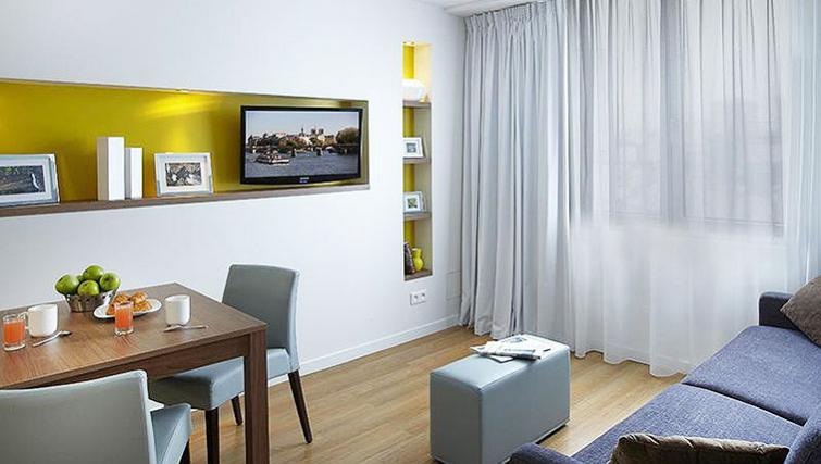 Fresh living area in Citadines Place d'Italie Apartments - Citybase Apartments