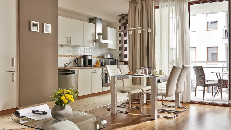 Equipped kitchen at 7 Seasons Apartments - Citybase Apartments