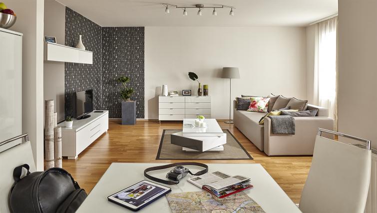 Spacious living area at 7 Seasons Apartments - Citybase Apartments