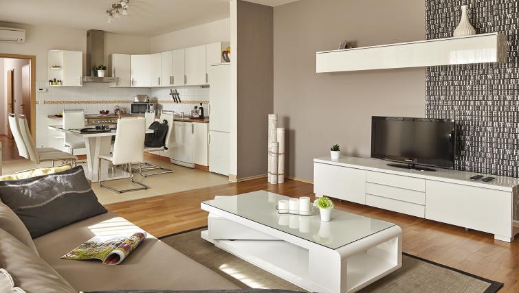 Open plan living area at 7 Seasons Apartments - Citybase Apartments