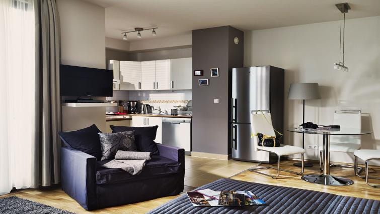 Open plan living space at 7 Seasons Apartments - Citybase Apartments