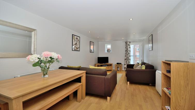 Bright living area at Chester Racecourse Apartments - Citybase Apartments