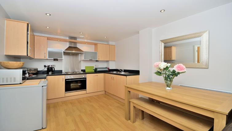 Bright kitchen at Chester Racecourse Apartments - Citybase Apartments