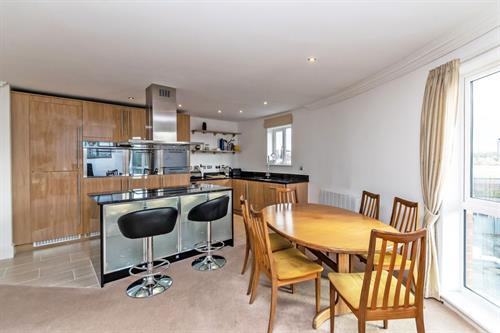 Open-plan kitchen at Chester Racecourse Apartments - Citybase Apartments