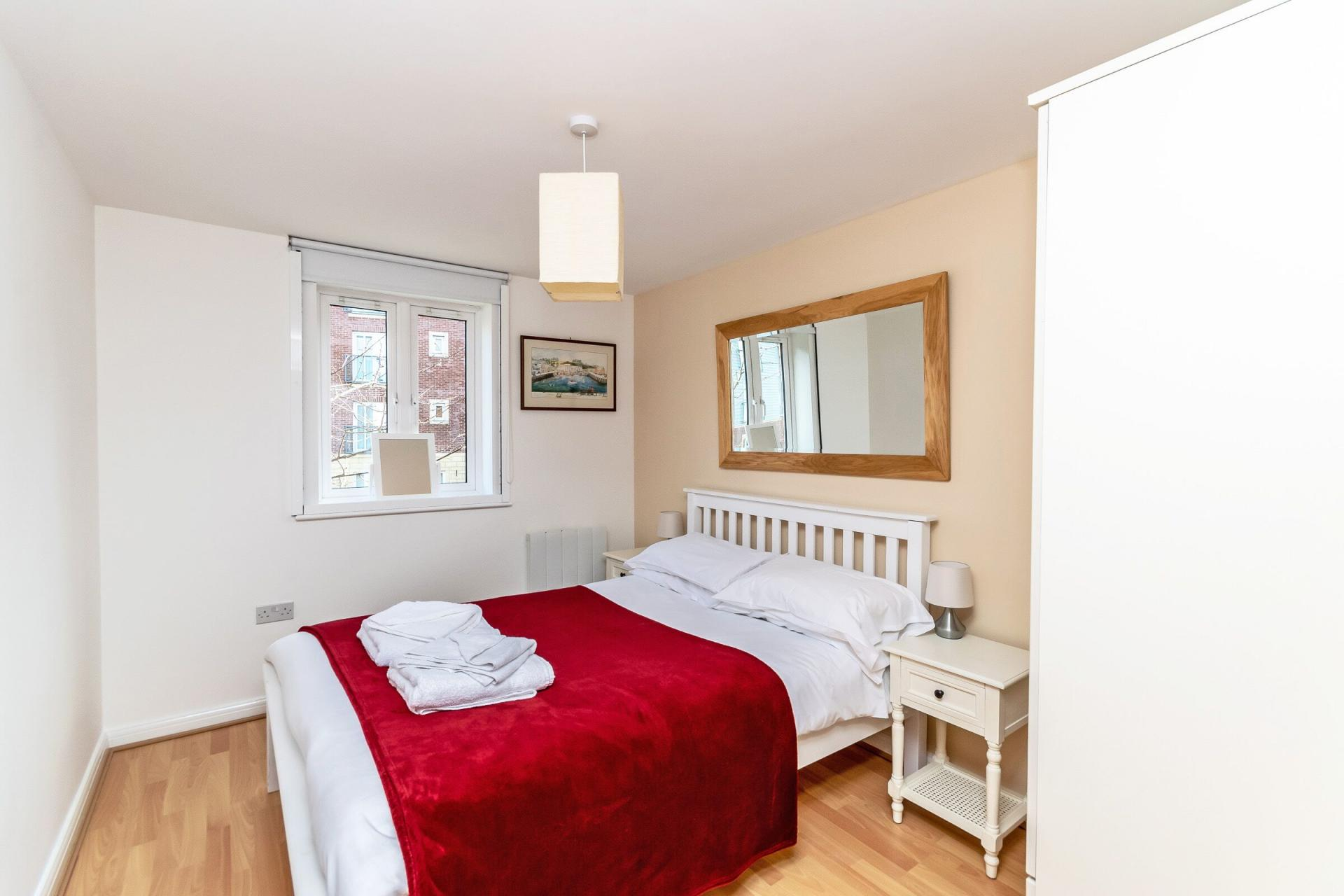 Bright bedroom at Chester Racecourse Apartments - Citybase Apartments