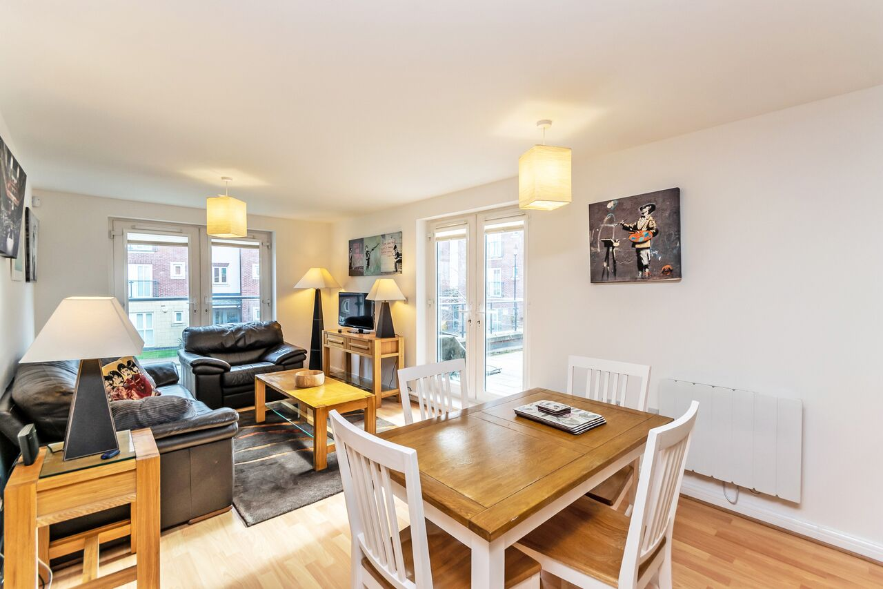 Dining area at Chester Racecourse Apartments - Citybase Apartments