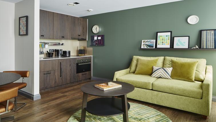 Living area at Residence Inn London Kensington, Earls Court, London - Citybase Apartments