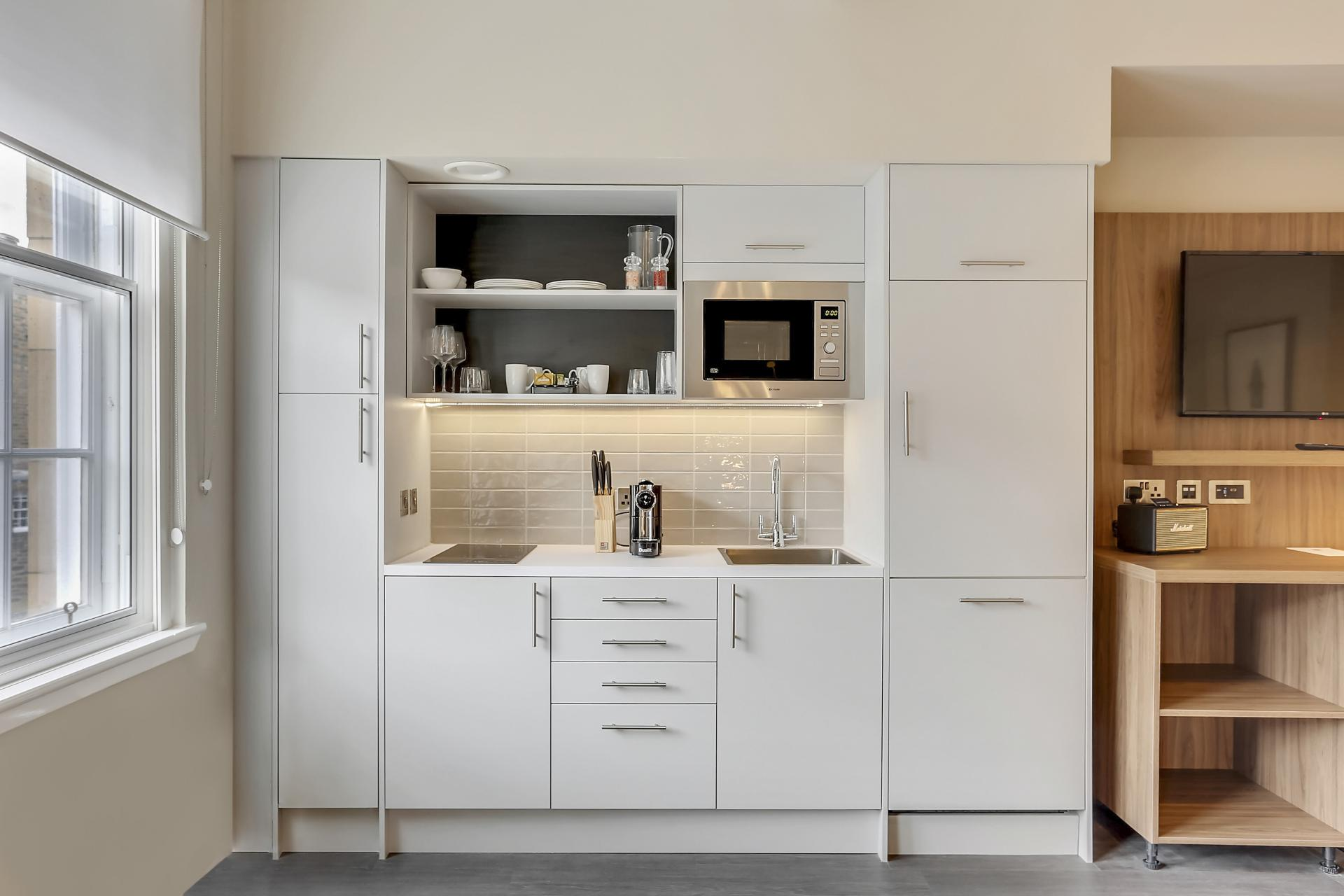 Kitchen at Native Edinburgh Apartments, Centre, Edinburgh - Citybase Apartments