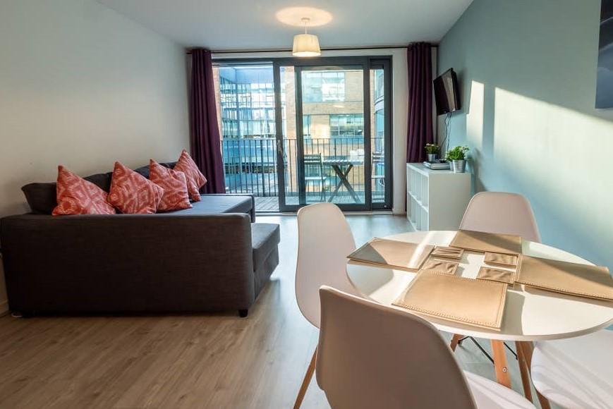 Living area at Providence Apartments, Centre, Maidenhead - Citybase Apartments