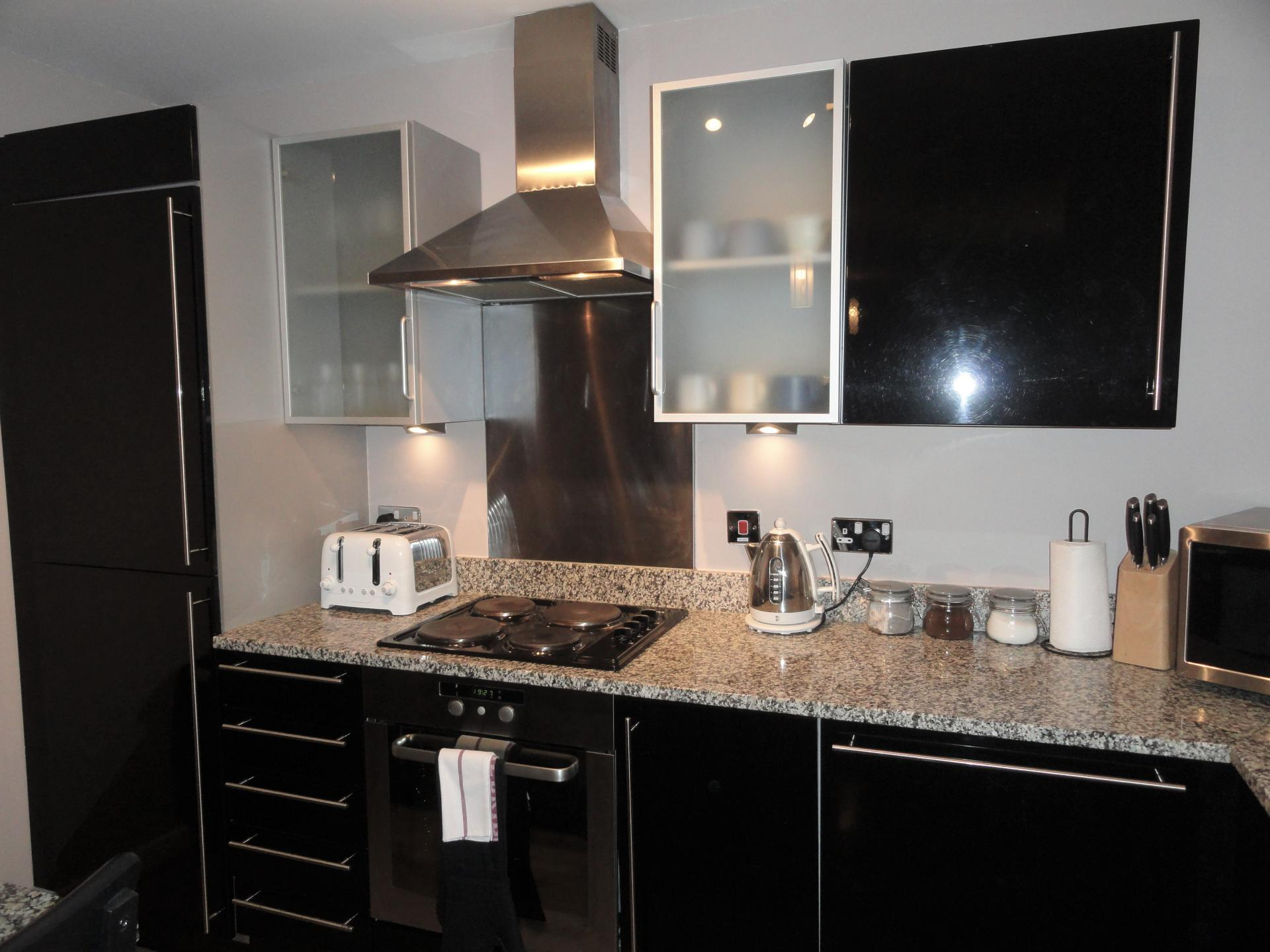 Equipped kitchen at Providence Apartments, Centre, Maidenhead - Citybase Apartments