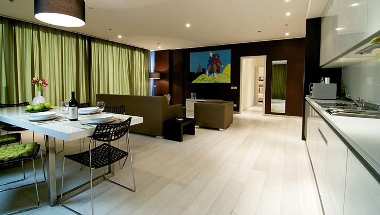Open-plan living area in the New York Residence - Citybase Apartments