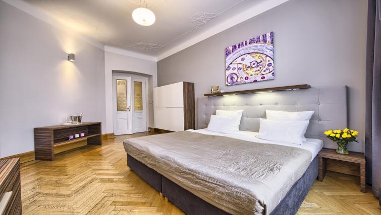 Master bedroom at Residence Brehova Apartments - Citybase Apartments