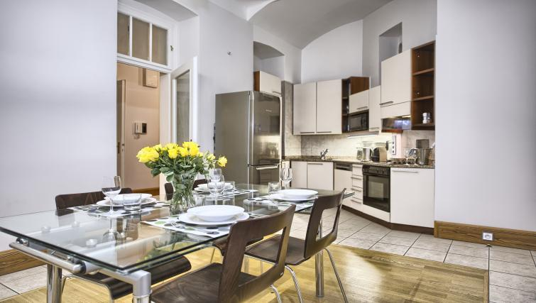Equipped kitchen at Residence Brehova Apartments - Citybase Apartments