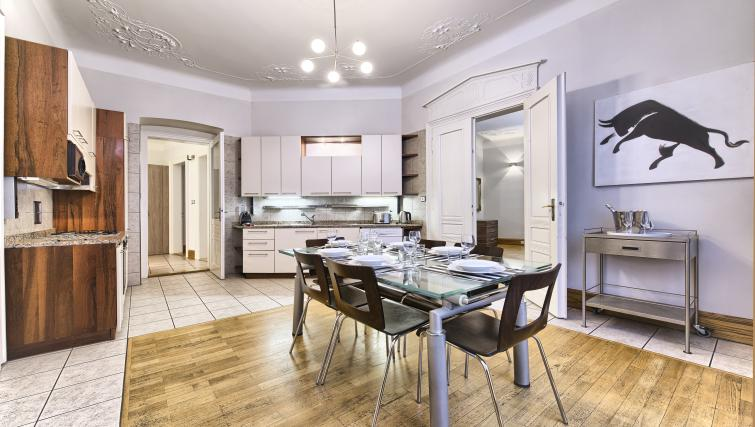 Fully equipped kitchen at Residence Brehova Apartments - Citybase Apartments