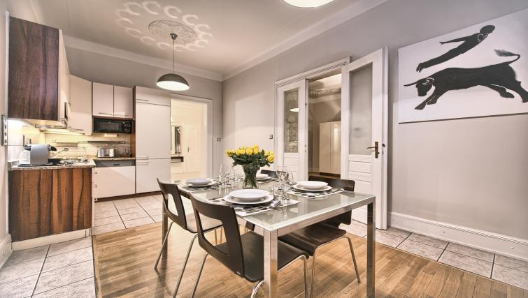 Kitchen at Residence Brehova Apartments - Citybase Apartments
