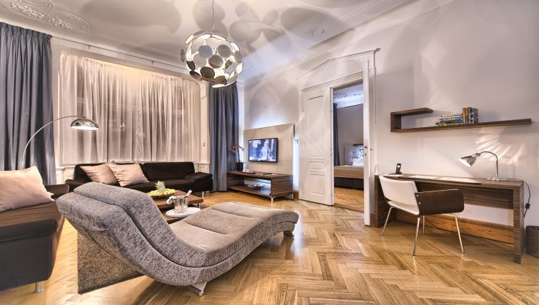 Living space at Residence Brehova Apartments - Citybase Apartments