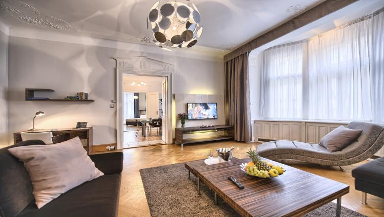 Living room at Residence Brehova Apartments - Citybase Apartments