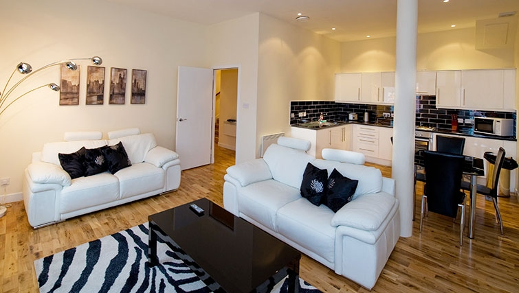 Stylish living area in Aberdeen Douglas Apartments - Citybase Apartments