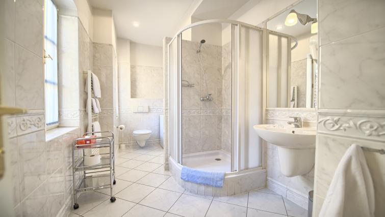 Shower at Residence Masna Apartments - Citybase Apartments
