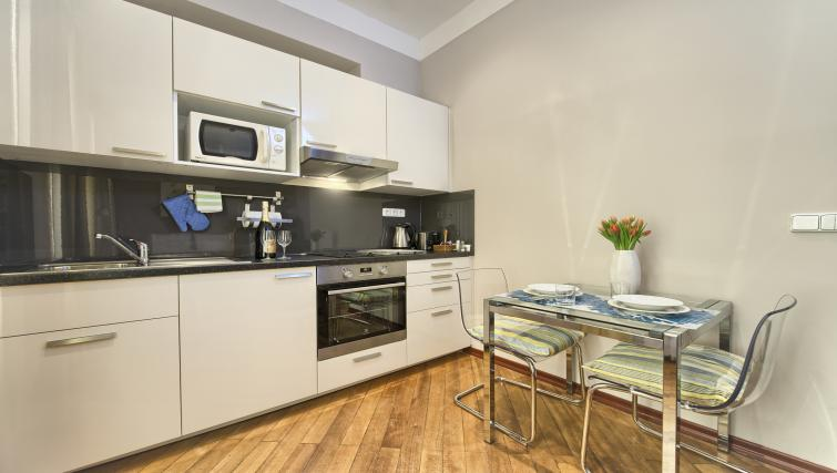 Studio kitchen at Residence Masna Apartments - Citybase Apartments
