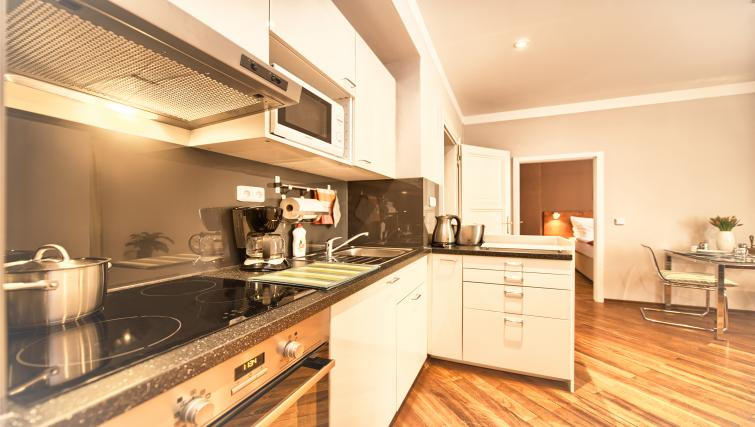 Fully equipped kitchen at Residence Masna Apartments - Citybase Apartments