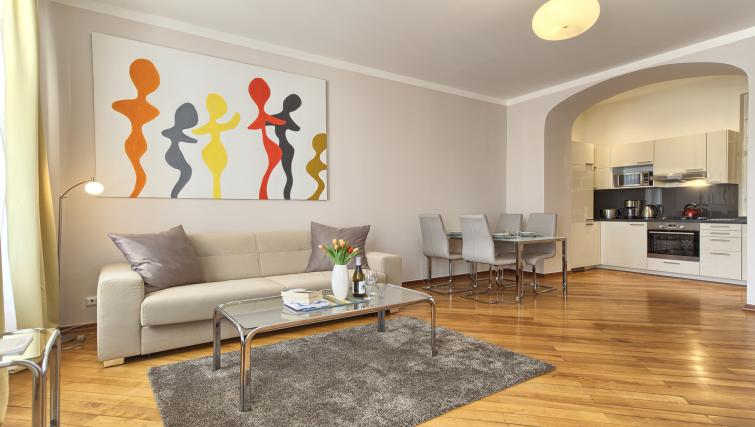 Living area at Residence Masna Apartments - Citybase Apartments