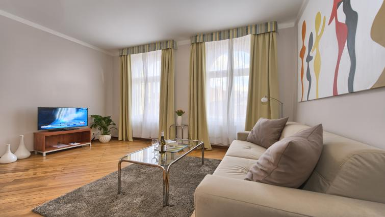 Living space at Residence Masna Apartments - Citybase Apartments