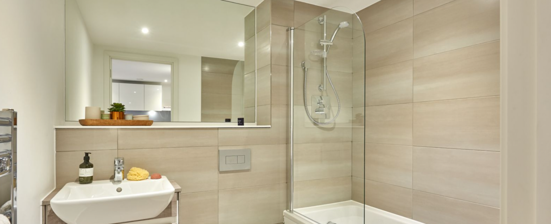 Bathroom at Charles Hope Birmingham Central Apartments, Westside, Birmingham - Citybase Apartments