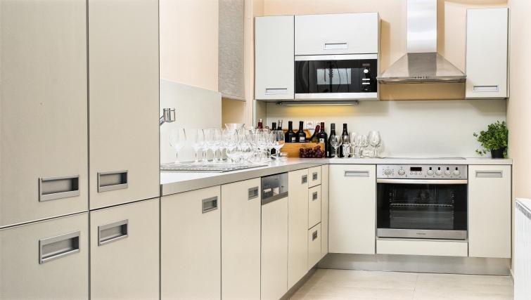 Kitchen at Residence Karolina Apartments - Citybase Apartments