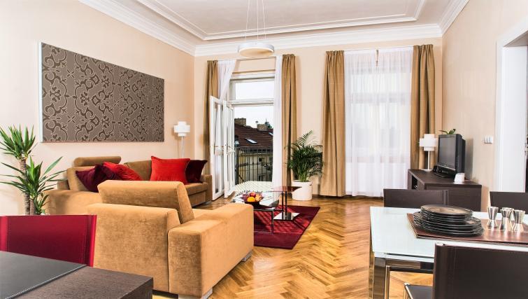 Living space at Residence Karolina Apartments - Citybase Apartments