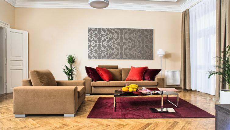 Living area at Residence Karolina Apartments - Citybase Apartments