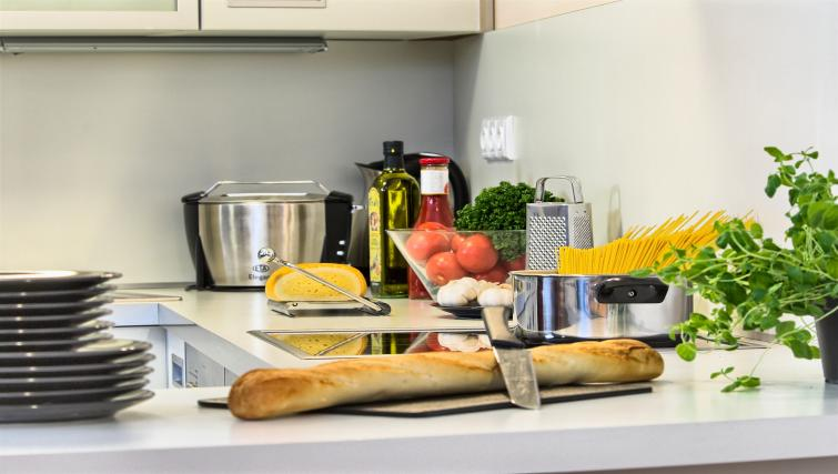 Fully equipped kitchen at Residence Karolina Apartments - Citybase Apartments