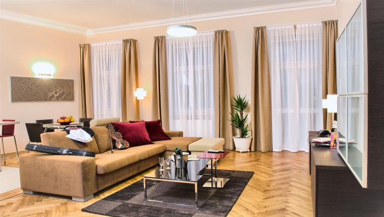 Living room at Residence Karolina Apartments - Citybase Apartments