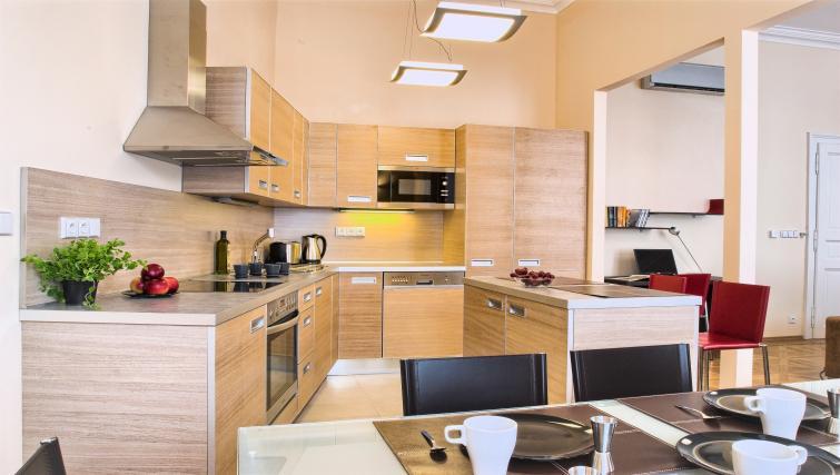 Kitchen/diner at Residence Karolina Apartments - Citybase Apartments