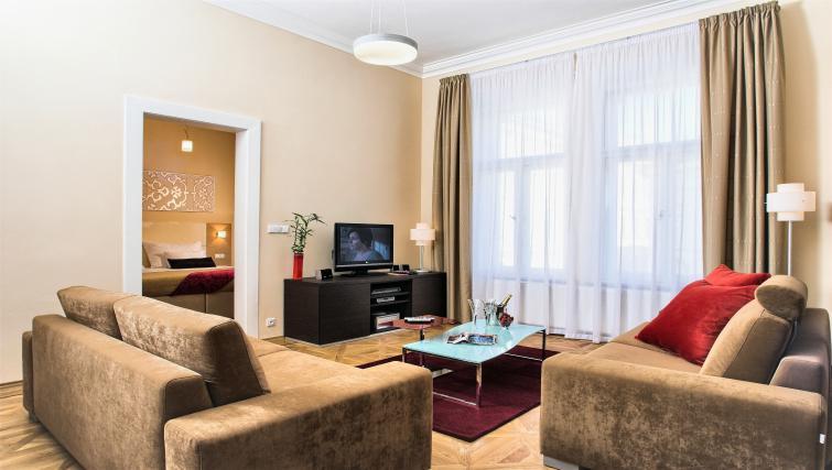 Cosy living area at Residence Karolina Apartments - Citybase Apartments