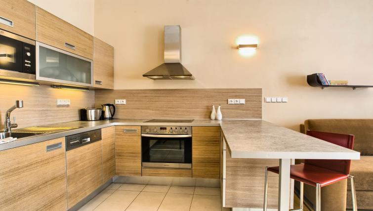 Bright kitchen at Residence Karolina Apartments - Citybase Apartments