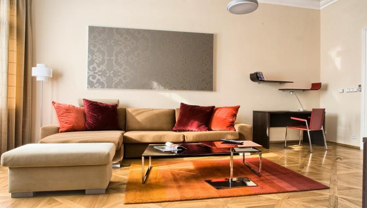Bright living area at Residence Karolina Apartments - Citybase Apartments